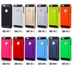PC TPU Hybrid Phones Cases for iphone 6s Armor Shockproof Protective Bumper