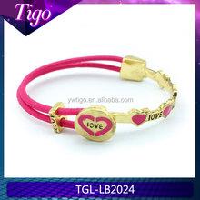 custom engrave elastic love bracelet