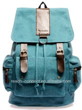 bamboo backpack 16 oz canvas for school 1680-denier polyester backpack
