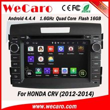 WECARO High End 1080P Pure Android 4.4.4 Car Stereo For Honda Crv Car Dvd Gps Navigation System