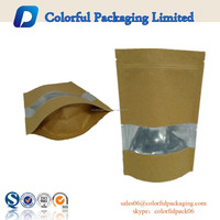 Customized Kraft paper aluminium STANDUP packaging bags with WINDOW