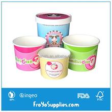 5 6 8 12 16 20 24 32oz Custom Printed Paper Ice Cream Frozen Yogurt Cups