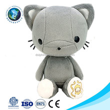 2015 Top selling new children toy plush japanese cat custom cute grey stuffed soft plush toy cat