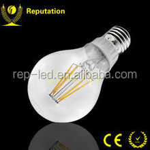 CE and RoHS certification 360 Degree Clear Glass E27 6W G80 LED Filament Bulb