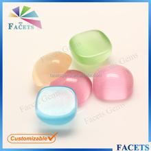 FACETS GEMS Wholesale Cat Eye Gem Stone Glass Cabochons Gemstone