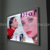 Beer Brand Advertising Aluminum Frame LED Lighted Dual Panel Customized Advertising Light Box