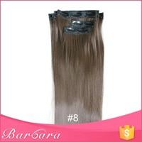 Barbara positive feedback fashion style top grade clip in malaysian hair extensions