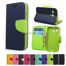 Fashion Book Style Leather Wallet Cell Phone Case for Nokia X2 with Card Holder Design