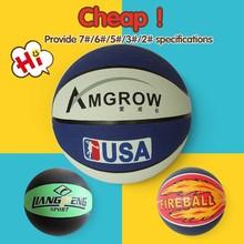 Bulk costomize fashion basketballs,synthetic rubber basketball