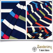 GUANGZHOU KNITTED FABRIC stripe cotton lycra t shirt material