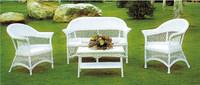 indoor white wicker rattan furniture