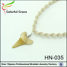 wholesale vintage jewelry 2015 top quality shark tooth necklace
