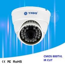 YHDO CCTV 800TVL DIS Analog Security Camera Indoor Dome Cameras with 3.6mm lens