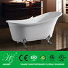 HS-BZ802 hot sale indoor best acrylic royal clawfoot european style bathtub
