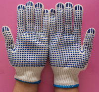 Pvc dot palm glove hand protection