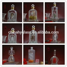 Pequeñas botellas de vidrio de la venta, 12oz botellas de vidrio, vacío de vidrio botella de licor