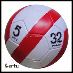 pu leather machine stitched football for training