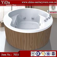 2012 newest luxury round bathtub, single colored bathtub with wood skirt, european style massage bathtub