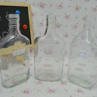 350ml 375ml Clear whisky bottles
