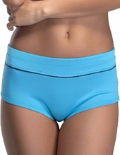 Yvette Women Mid-Rise Sports Panties 6042 - Boyshort Styling/Wide Band/Picot Mid-waist Sexy Retro Underpants Fitness Briefs