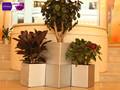 Gf1- alta- série decoração residencial produtos retangular de plástico composto de vasos de flores