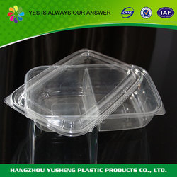 PET plastic type food use rectangle pet disposable food container