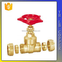 LINBO-C968high quality hot selling chrome plated cw617n brass gate valve with brass handle key for oil