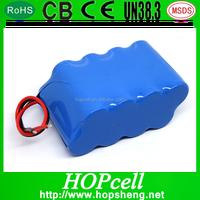 HOPcell Li ion 2S4P 8000mah rechargeable battery 7.4v 8000mah 18650 li-ion battery pack 2s4p