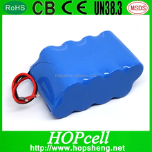 HOPcell Li ion 2S4P 8000mah rechargeable battery 7.4v 8000mah 18650 li-ion battery pack 2s4p