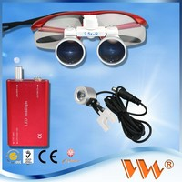 3.5 X dental loupe light complete packing for dental clinic