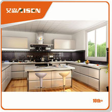 100% factory directly luxury metal kitchen cabinet price