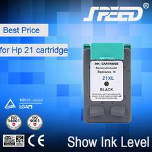 Show Ink Level ink cartridge for hp 21 22 21xl with Less 1% Defective Rate