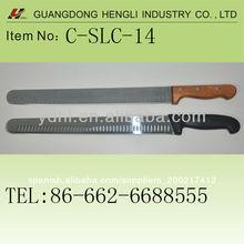 de acero inoxidable granton cuchillo rebanador