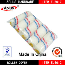 """yellow end 4"""" mini roller sleeve for cleaning"""