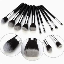 Soft wholesale custom logo makeup brushes 10 pcs/set make up brush