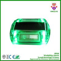 green color led road marker ,blinking led solar lights for road ,solar light led for garden road