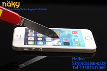 New Clear LCD Mirror Front Tempered Glass Screen Protector For iphone 5 5C 5S Guard Cover Film