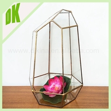For flower arrangements brass crystal teardrop vase *** Plant geometric glass aluminium flower vase