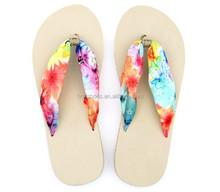 2015 ladies silk strap beach wedding flip flops