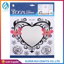 Fun and great design self-adhesive mirror decorative wall sticker