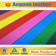 fashional rainbow pattern pu fabric for high heels sandal and bag Canton leather factory T5752