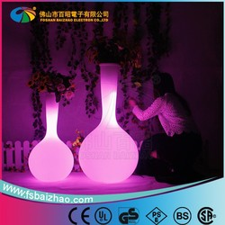 factory direct sale/LED Lighted Planter Pots outdoor decorate / LED Flower Pot Wholesale