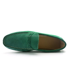 Genuine Leather green ,classic Men Shoes Good Price and High Quality Loafers