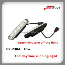 SUPER BRIGHT 10w led daytime running light DRL with automatic turn off light function waterproof IP65 for ROEWE 550,Lexus ES