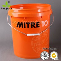 wholesale 20 liter paint bucket with lid and handle for paint or chemical