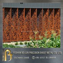 China supplier steel metal product custom decorative laser cut outdoor screen