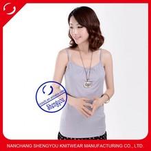 Fashion sample wholesale 100 cotton plain blank maternity tank tops