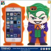 2016 newest wholesale cartoon 3d silicon case for iphone 5s