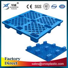 1100*1100mm 9 legs light-duty 4 way single faced plastic pallet