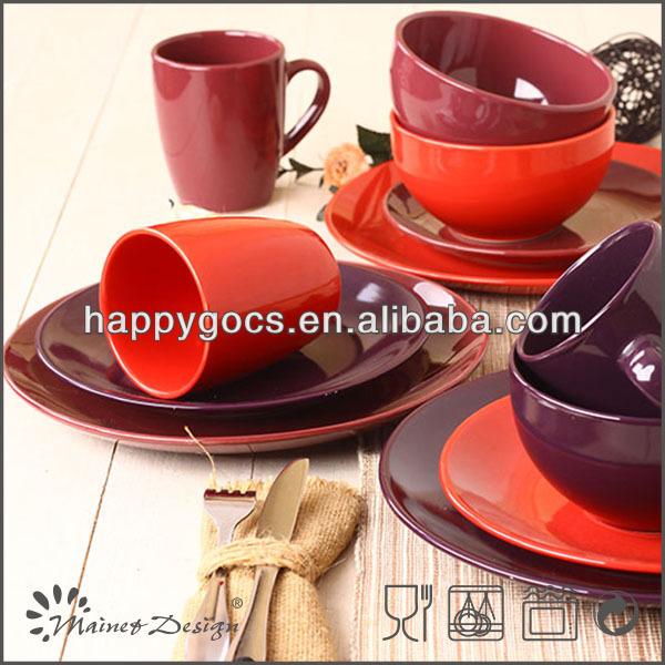 Porcelana esmaltada de color personalizado vajilla vajilla - Vajilla de porcelana ...
